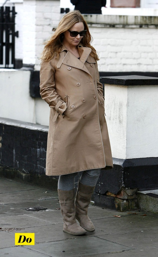 Stella McCartney enceinte : Son trench beige !