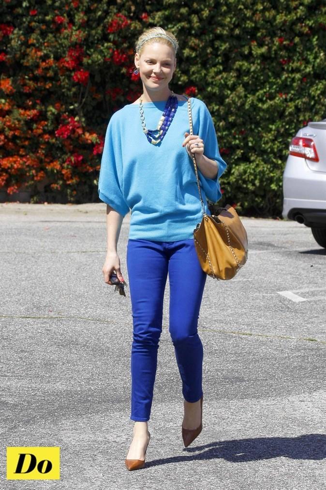 Katherine Heigl : elle opte pour le bleu !