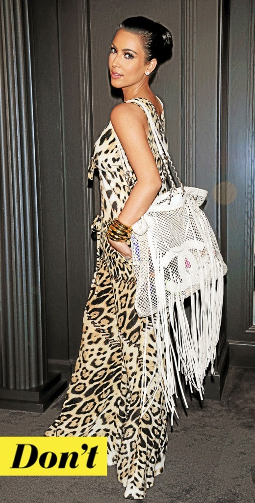 Le sac à franges de Kim Kardashian