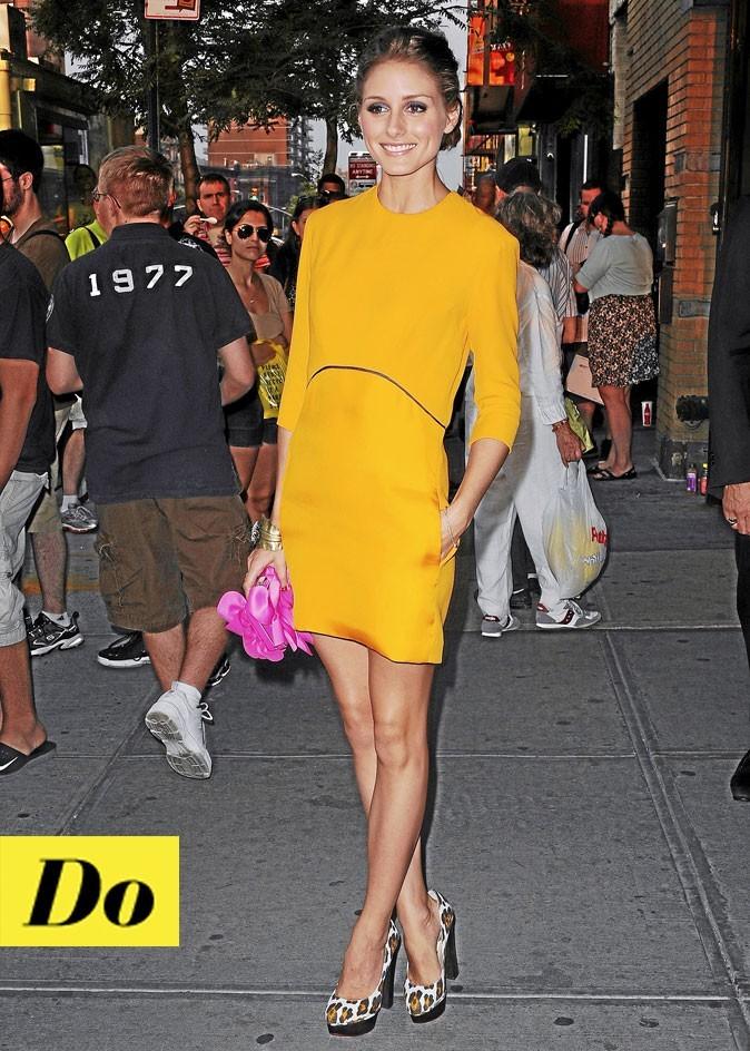 La robe jaune d'Olivia Palermo !