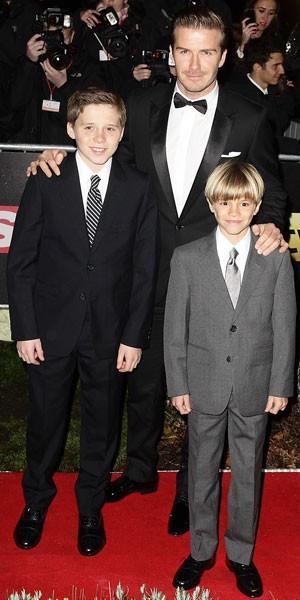 David Beckham : où trouver les costumes chics de ses fils en moins cher ?