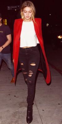 Gigi Hadid : un look rock et glam hyper canon !