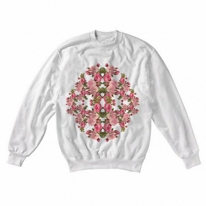 Sweat-shirt en coton et polyester, 59€