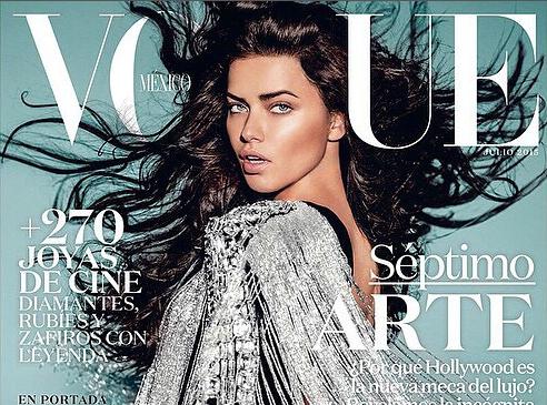 Adriana Lima, la bombe brésilienne en couverture de Vogue Mexique !