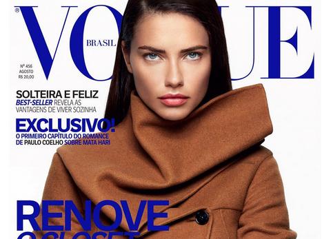 Adriana Lima : la force tranquille pour Vogue Brésil !