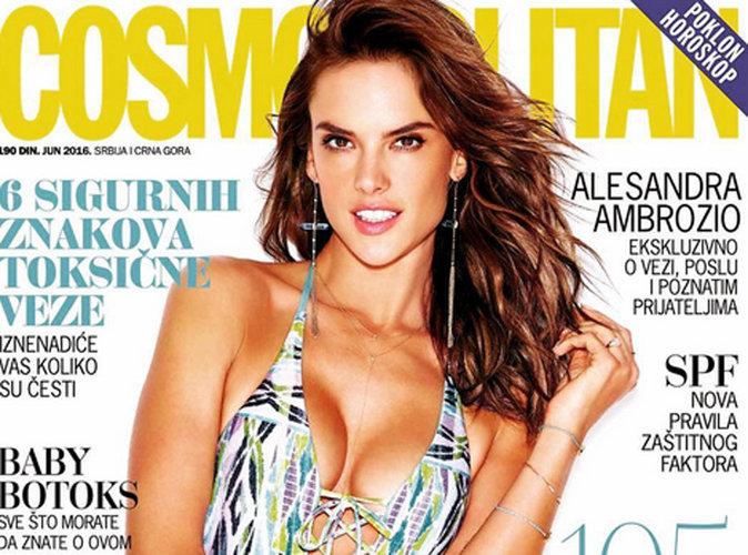 Alessandra Ambrosio : Athlétique et sexy en maillot de bain pour la couverture du Cosmopolitan Serbie