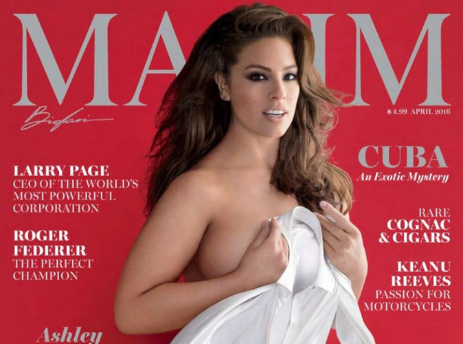 Ashley Graham : sexy et provocante en couverture du magazine Maxim