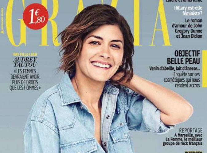 Audrey Tautou : À 40 ans, elle est méconnaissable en couverture de Grazia !