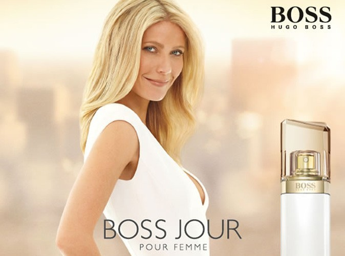 beaut gwyneth paltrow une g rie fra che et naturelle pour le parfum boss jour pour femme. Black Bedroom Furniture Sets. Home Design Ideas