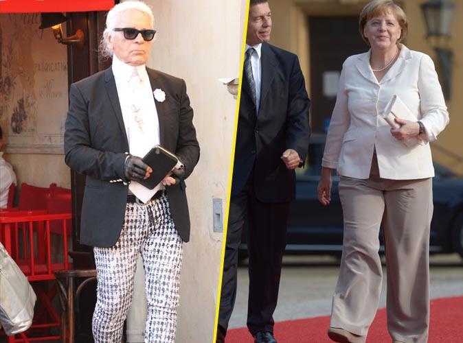 """Beauté : Karl Lagerfeld : le kaiser tacle Angela Markel sur ses """"proportions (physiques) originales"""" !"""