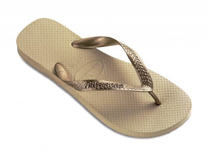 Tongs Metallic Sable et gris doré, Havaianas havaianas-store.fr 20 €