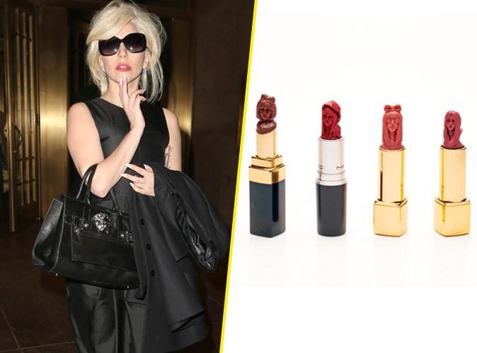 Lady Gaga sculptée dans des tubes de rouge à lèvres