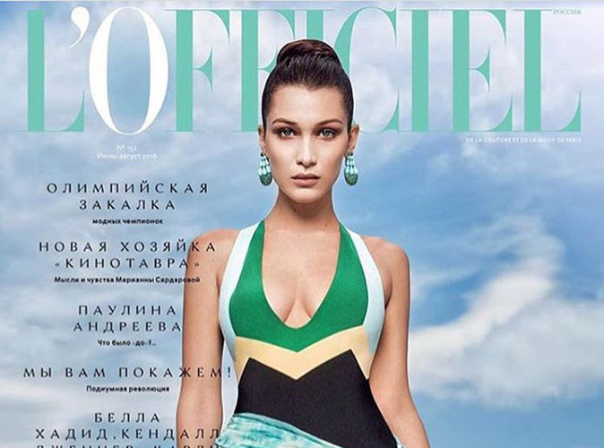 Bella Hadid : Magistrale en couverture de L'Officiel Russie !