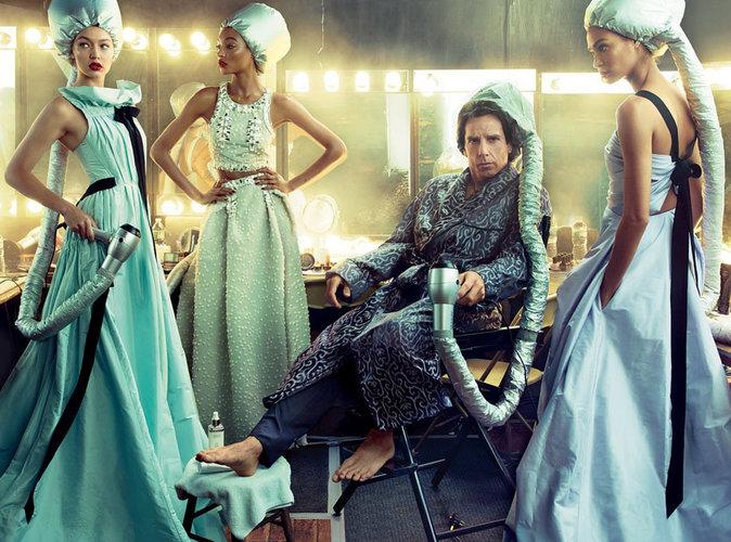 Ben Stiller icône fashion pour Vogue avec les tops Gigi, Jourdan, et Joan