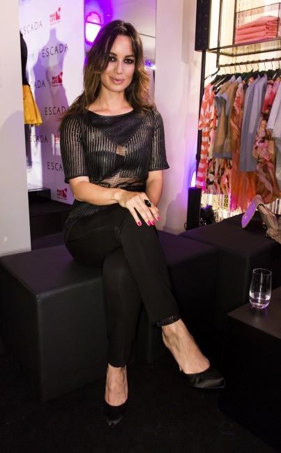 Bérénice Marlohe était présente à l'inauguration de la boutique Escada à Berlin le 19 mars