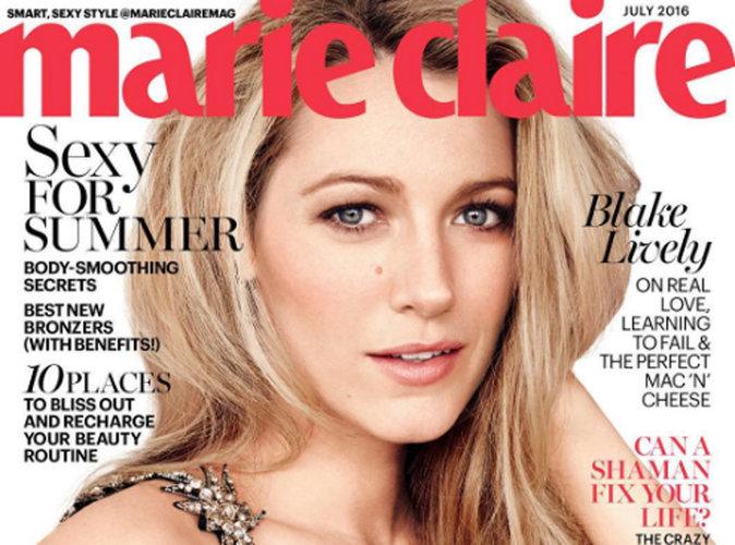 Blake Lively : glamour et naturelle en couverture de Marie Claire US !