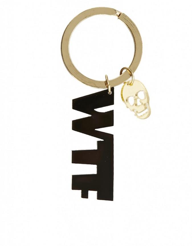 Porte-clés WTF en métal, Asos, 10 €