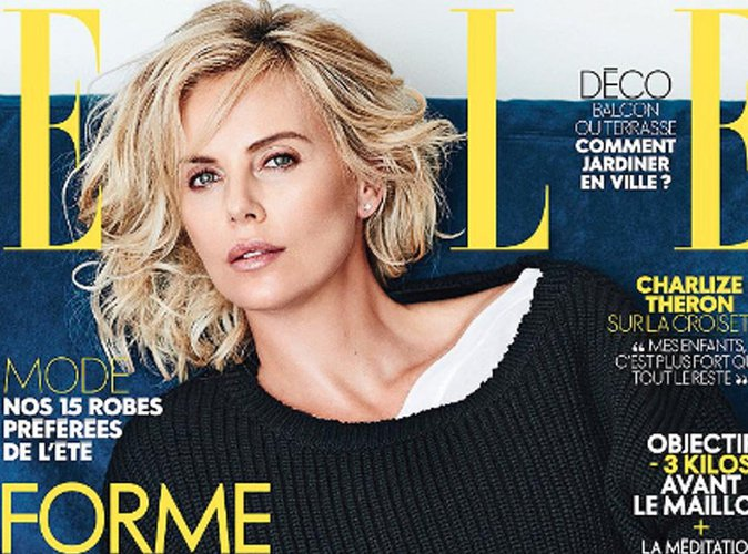 Charlize Theron : au naturel en couverture du magazine ELLE France
