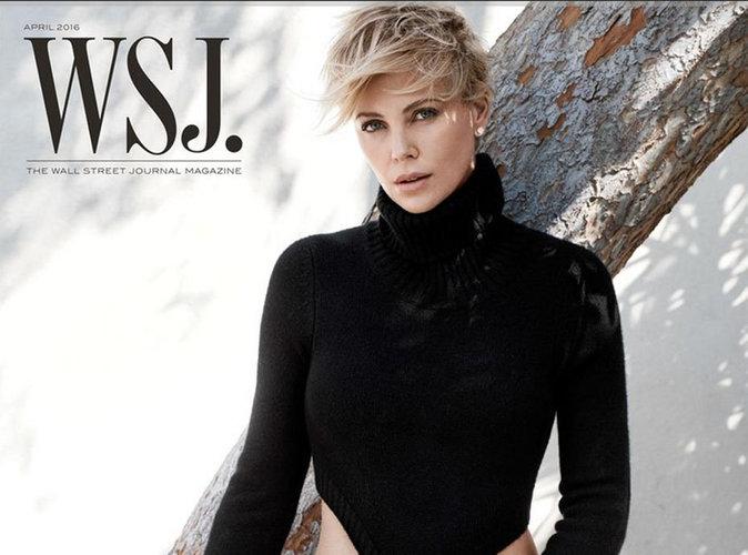 """Charlize Theron sublime en couverture de WSJ : """"Sean Penn ne comptait pas adopter mon fils!"""""""