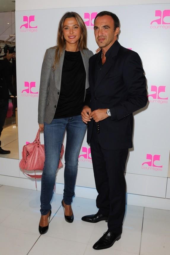 Nikos Aliagas et Sandrine Quetier chez Courrèges