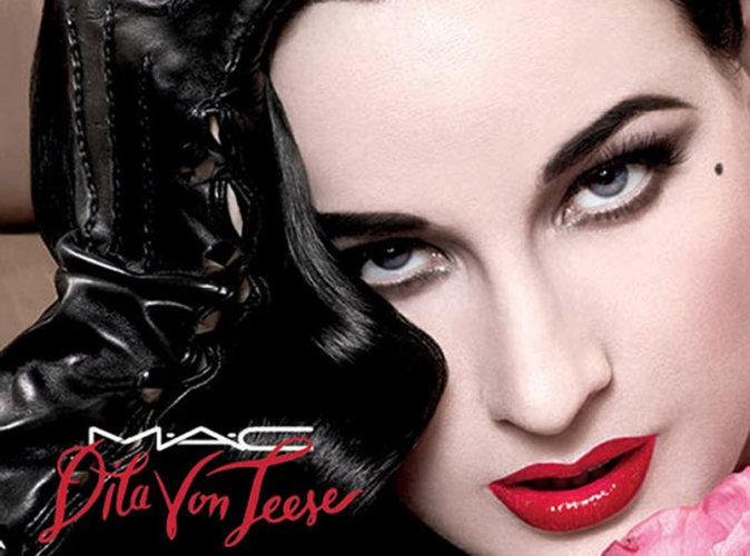 Dita Von Teese s'associe à M.A.C Cosmetics pour un lipstick en édition limitée !