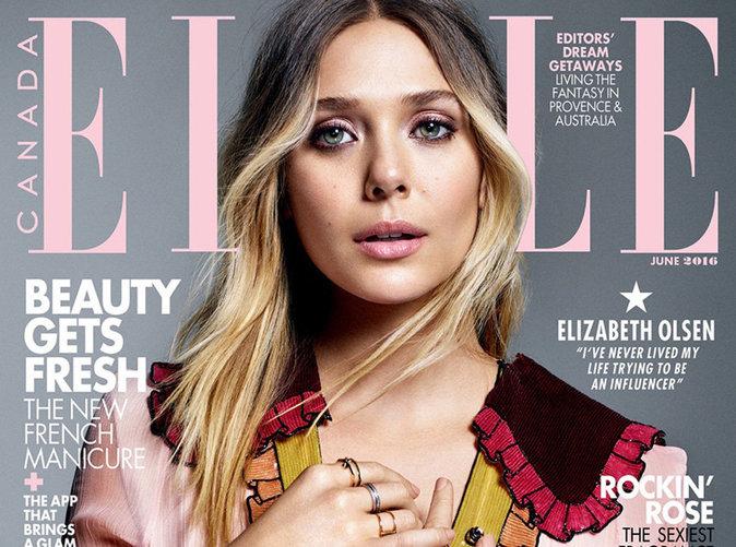 Elizabeth Olsen : une poupée colorée en une de ELLE Canada !