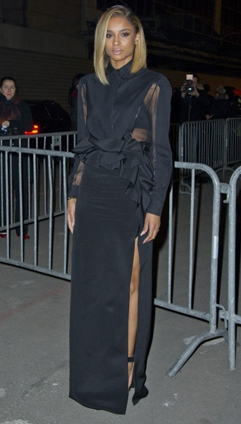 Ciara chez Givenchy - Fashion week automne-hiver 2013/14