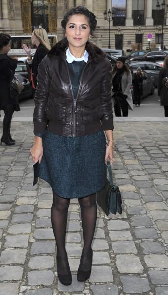 Géraldine Nakache chez Carven - Fashion week automne-hiver 2013/14