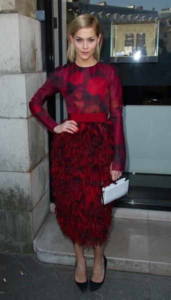 Leigh Lezark chez Giambattista Valli - Fashion week automne-hiver 2013/14