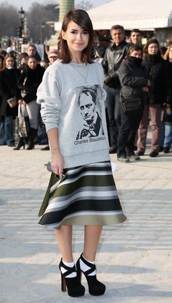 Miroslova Duma chez Chloé - Fashion week automne-hiver 2013/14