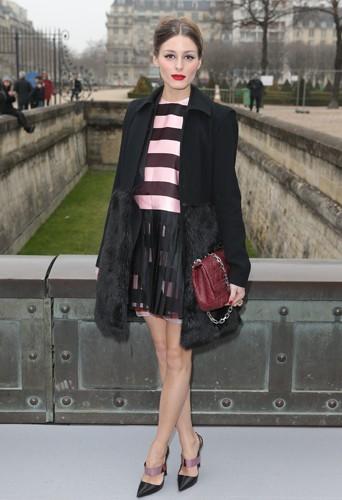 Olivia Palermo chez Dior - Fashion week automne-hiver 2013/14