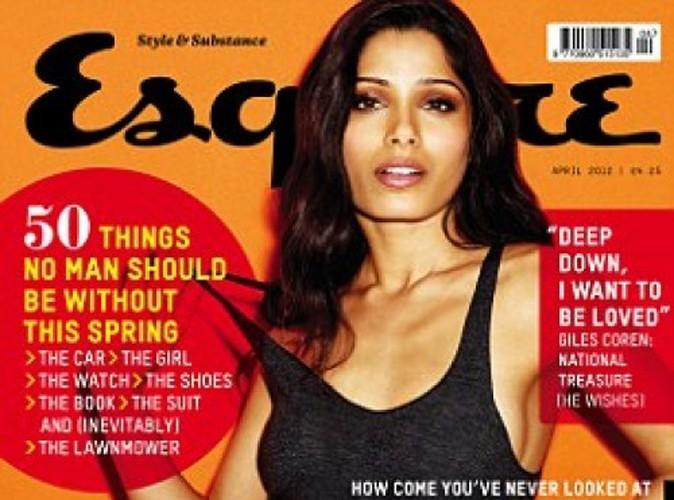 Freida Pinto, fatale et désirable en couverture d'Esquire !