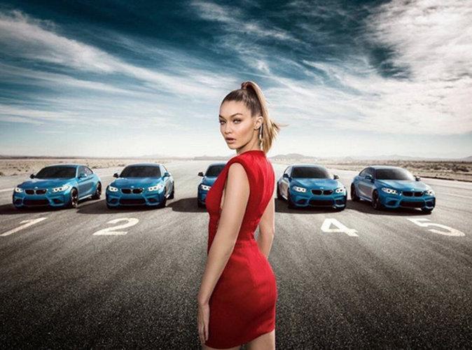 Gigi Hadid : sexy et flamboyante pour la nouvelle campagne BMW