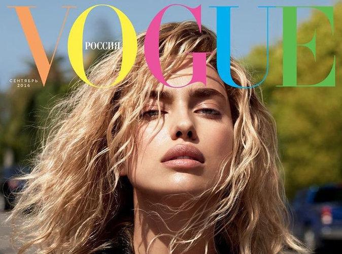 Irina Shayk : blonde et ultra sexy en couverture de Vogue Russie