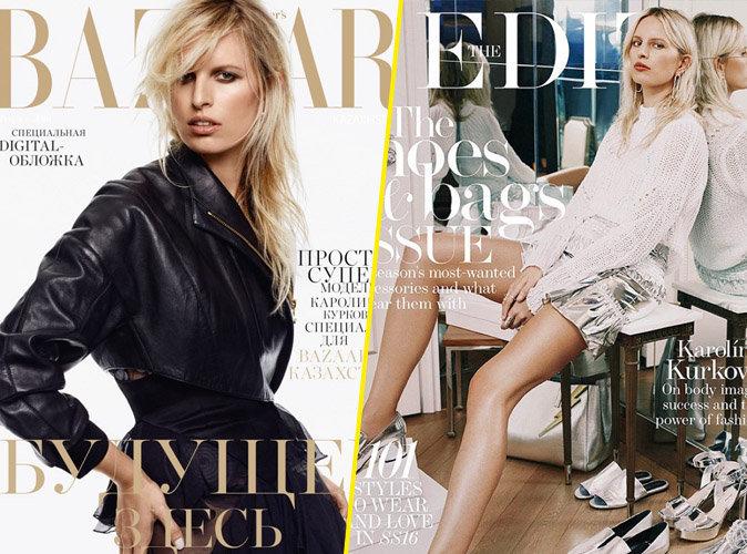 Karolina Kurkova : rebelle et stylée en couverture des magazines Haper's Bazaar Kazakhstan et The Edit