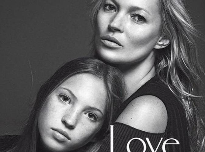 Kate Moss et Lila Grace : duo mère-fille stylé pour la couverture du magazine Vogue Italie