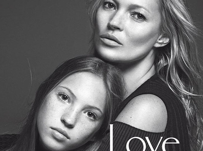 Kate Moss : Lila Grace, sa fille de 14 ans signe sa première campagne publicitaire beauté