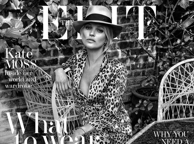 Kate Moss : nonchalante et stylée en couverture du magazine The Edit