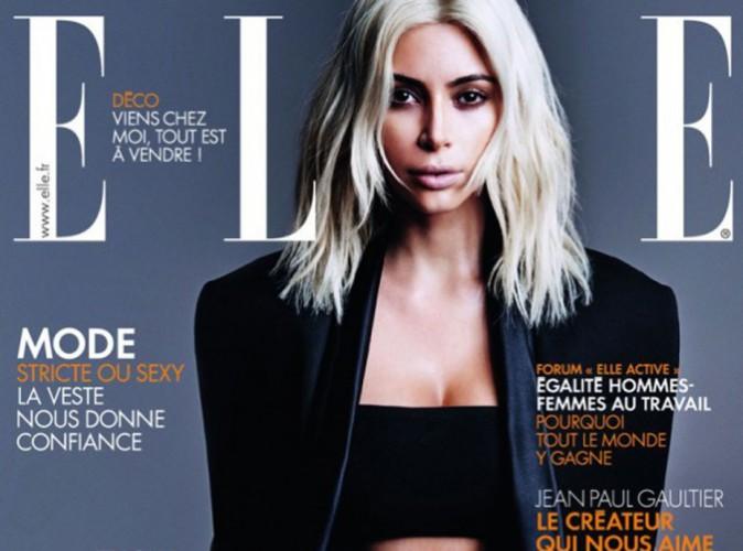 Kim Kardashian : beauté platine sur papier glacé