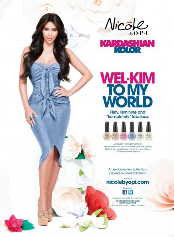 La campagne publicitaire de la nouvelle collection de vernis de Kim Kardashian !