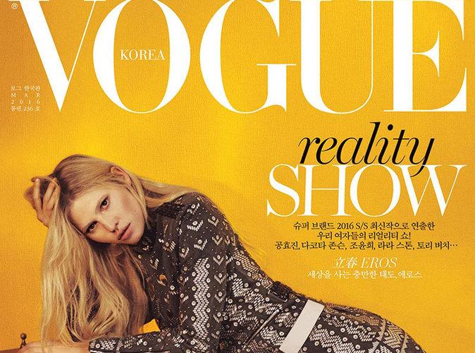 Lara Stone : mystérieuse et sauvage en couverture de Vogue Corée