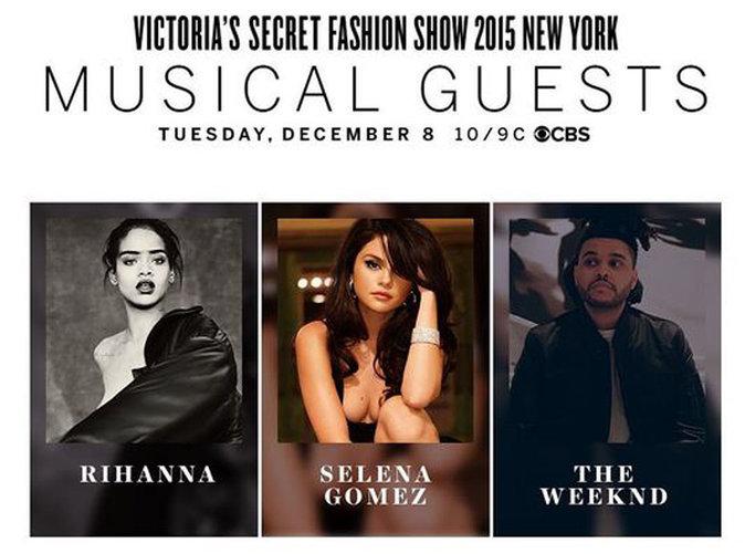 Le défilé Victoria's Secret 2015 : Rihanna, Selena Gomez et The Weeknd seront présents pour faire le show !