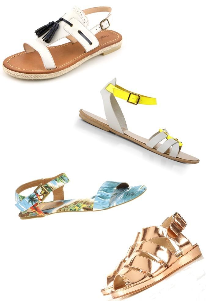 Les sandales plates
