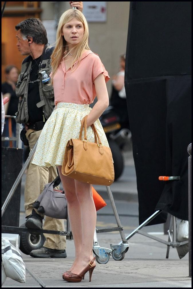 Clémence Poésy sur le tournage de Gossip Girl