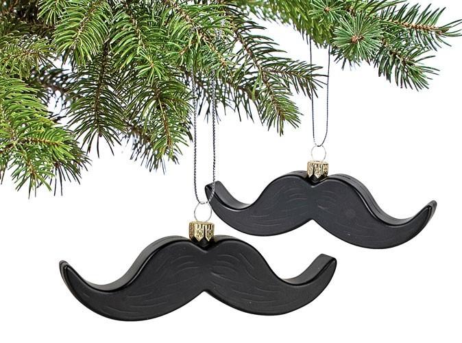 """Look : des boules de noël """"moustache"""" !"""