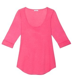 T-shirt manches longues rose : 15£ !