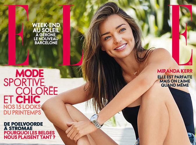 Miranda Kerr : sourire XXL et look estivale en couverture du magazine Elle