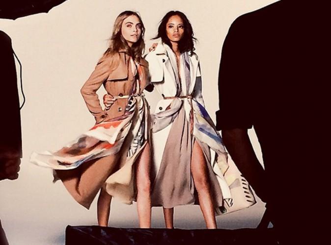 Mode : Cara Delevingne et Malaika Firth dévoilées en backstage par Burberry !