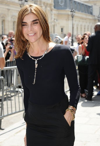 Carine Roitfeld pendant la Fashion Week