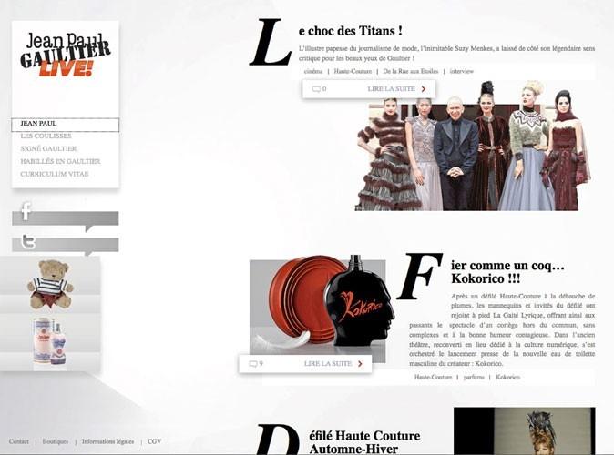 Mode : découvrez le nouveau site de Jean Paul Gaultier !